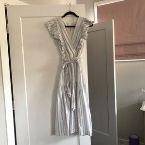 Rebecca Taylor Tie-Waist Midi Dress